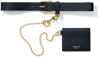 Michael Kors Leather Wallet Belt