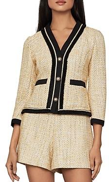 BCBGMAXAZRIA Tweed Button Blazer