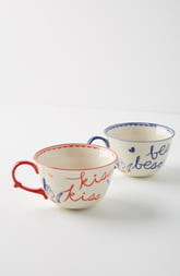 Anthropologie Libby VanderPloeg Set of 2 Mugs