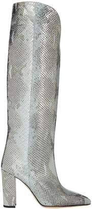 Paris Texas Snake Lame Knee-High Boots