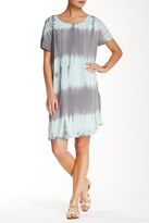 Mono B Short Sleeve Tie-Dye Tunic Dress