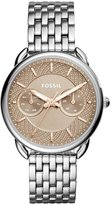 Fossil Women's Tailor Steel Bracelet & Case Quartz Dial Watch Es4225