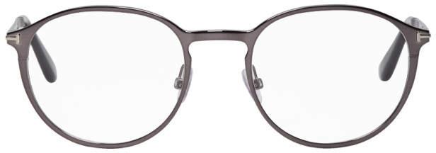 Tom Ford Gunmetal and Black Magnetic Clip-On FT5476 Glasses