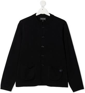 Emporio Armani Kids Long Sleeve Cardigan
