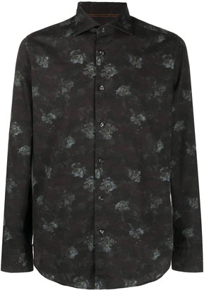 Tintoria Mattei Floral Print Button-Up Shirt