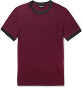 Giorgio Armani - Knit-trimmed Jersey T-shirt