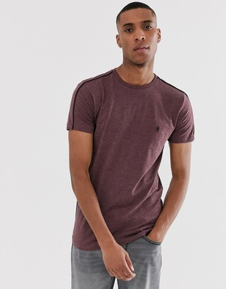French Connection side piping T-Shirt-Red