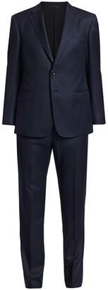 Giorgio Armani Micro Diamond Single-Breasted Wool Suit