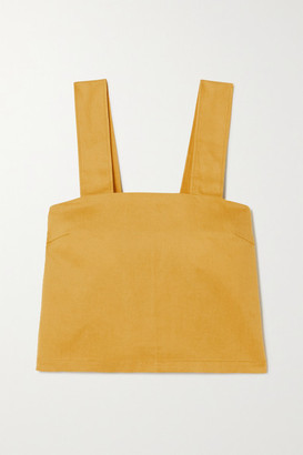 KING & TUCKFIELD Lyocell, Linen And Cotton-blend Top - Yellow