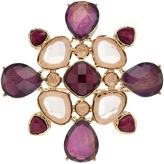 Dana Buchman Purple Geometric Cluster Kaleidoscope Pin