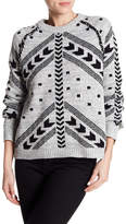 Line Pattern Print Pullover