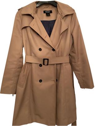 DKNY Beige Polyester Coats