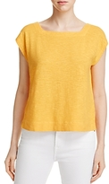 Eileen Fisher Square Neck Crop Tee