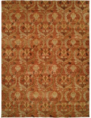 Wildon Home Hand-Knotted Wool Rust Area Rug Rug Size: Rectangle 12' x 15'