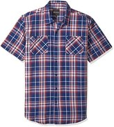 Akademiks Men's Big and Tall Short Sleeve Button Down B&t