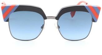 Fendi Iridia Round Sunglasses Metal