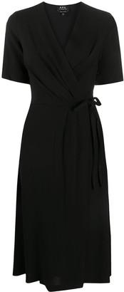 A.P.C. Mathilda faux-wrap dress
