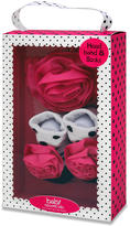 Baby Essentials Girls Headband and Sock Set - Dot Rose