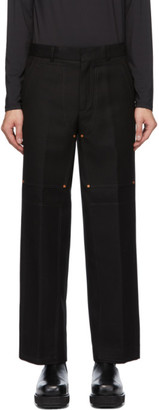 ANDERSSON BELL Black Double Knee Wide Trousers