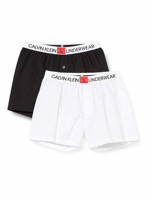 Calvin Klein Boy's 2PK Woven Boxers Shorts