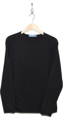 Moray Cashmere - Long Sleeve Raglan Black - S