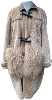 Marni Beige Shearling Coat for Women