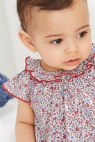Next Girls Red/Ecru Floral Romper Two Pack (0mths-2yrs)