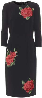 Dolce & Gabbana Embroidered crepe sheath dress