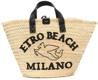 Etro Embroidered Beach Tote Bag