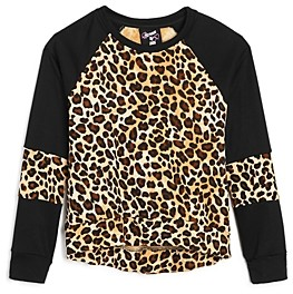 Flowers by Zoe Girls' Leopard Long Sleeve Sweatshirt - Big Kid