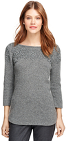 Brooks Brothers Wool Embroidered Boatneck Sweater
