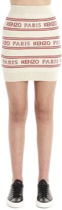 Kenzo All Over Logo Skirt