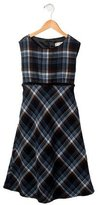 Helena Girls' Plaid Sleeveless Dress