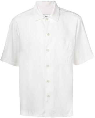 Ami Paris Camp Collar Short Sleeve Shirt
