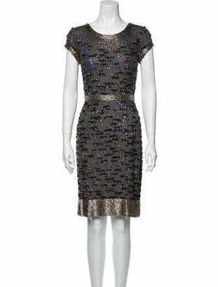 Oscar de la Renta 2011 Knee-Length Dress Grey