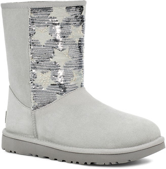 UGG Women's Casual boots GREY - Gray Violet Sequin Star Classic Short Suede Boot - Women