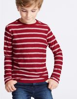 Marks and Spencer Pure Cotton Striped T-Shirt (3-14 Years)