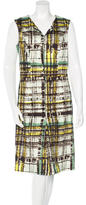 Carolina Herrera Abstract Print Sleeveless Dress