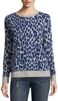 Liz Claiborne Long-Sleeve Animal Print Sweatshirt