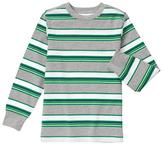 Gymboree Green & Gray Stripe Jersey Long-Sleeve Tee - Boys