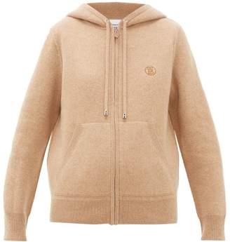 Burberry Ergun Zip-through Cashmere-blend Hooded Sweater - Womens - Camel