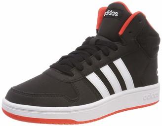 adidas Unisex Kids' Hoops Mid 2.0 K Fitness Shoes Black (Negro 000) 3 UK