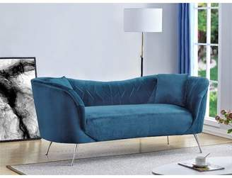 Mayne Chesterfield Sofa Mercer41 Upholstery Color: Light Blue