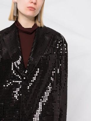 Junya Watanabe Sequin-Embellished Midi Coat