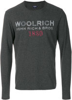 Woolrich long sleeve shirt with printed logo
