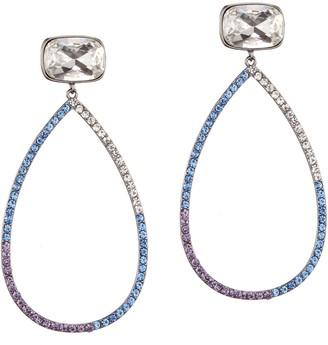 Nina Jewelry Large Open Teardrop Pave Earrings