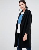 Helene Berman Ovoid Ema Coat In Black