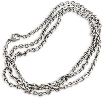 Sylva & Cie Oxidized Sterling Silver Chain-Link Necklace