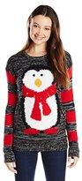 Derek Heart Junior's Penguin with Jingle Bells Ugly Christmas Sweater