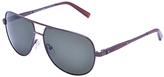 Calvin Klein Brown Polarized Aviator Sunglasses - Women
